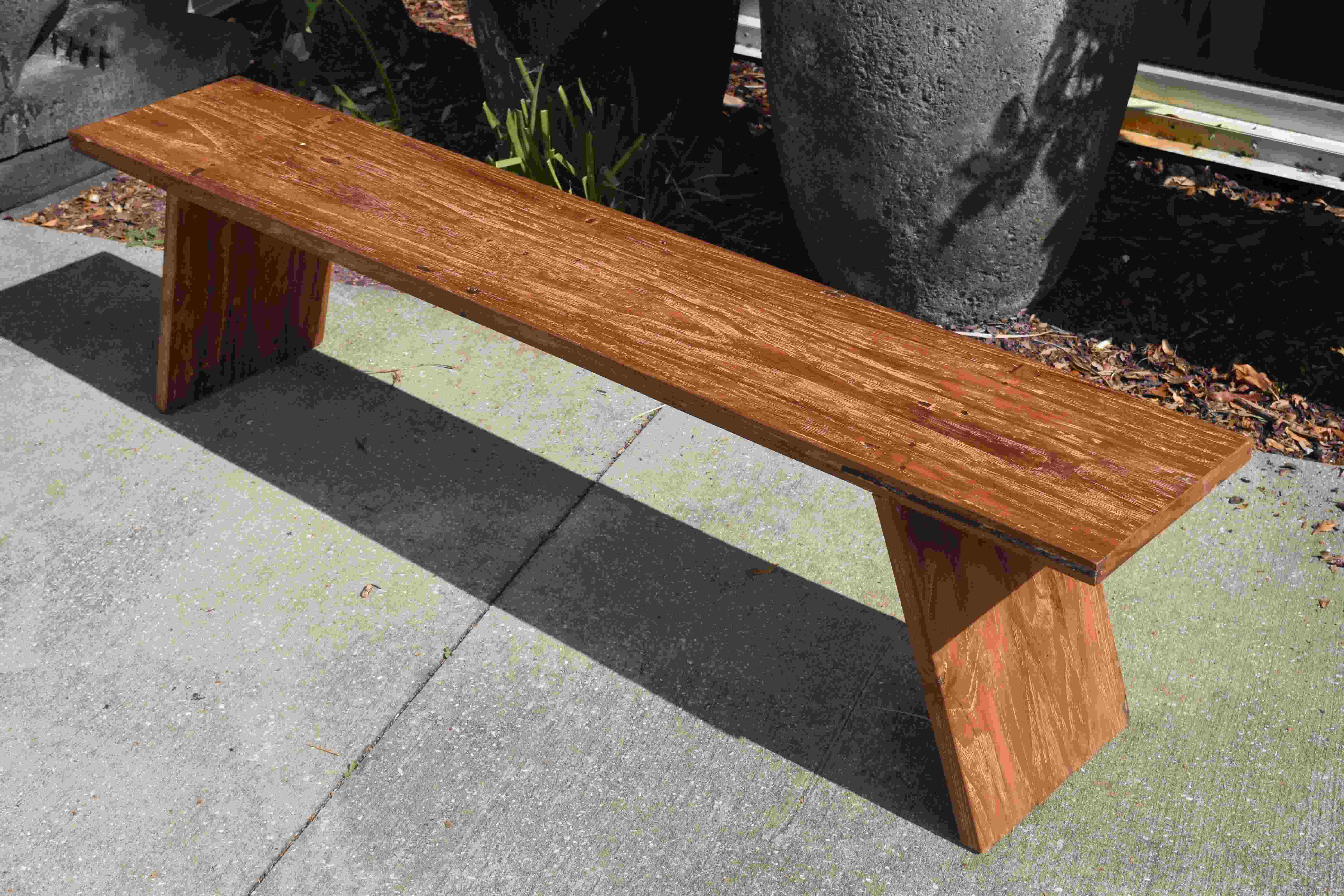 Awe Inspiring Balinese Vintage Teak Plank Bench Columbus And Cook Theyellowbook Wood Chair Design Ideas Theyellowbookinfo